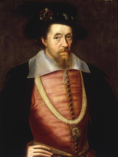 A Portrait of James I of England, VI of Scottland Giclee
