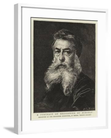 A Portrait of Meissonier by Himself-Jean-Louis Ernest Meissonier-Framed Giclee Print