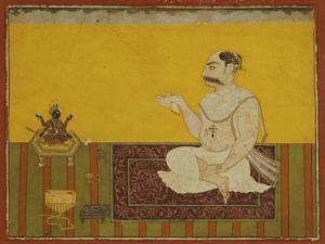 A Portrait of Raja Kirpal of Basohli circa 1690
