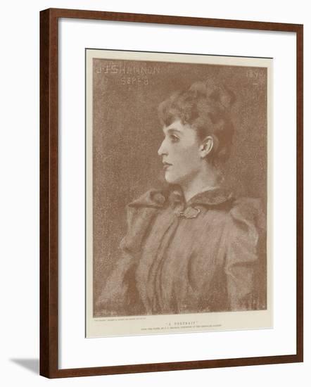 A Portrait-James Jebusa Shannon-Framed Giclee Print