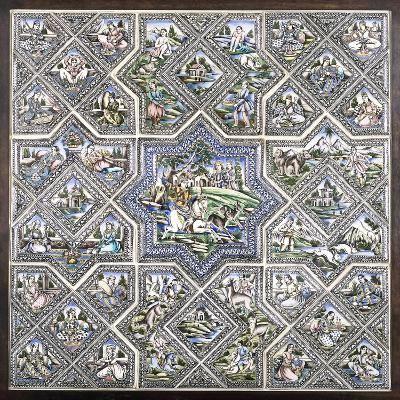 A Pottery Tile Panel--Giclee Print