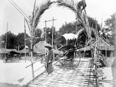 A Pousse-Pousse Driver at the Entrance to Tonkin Village, Paris Exhibition, 1889--Photographic Print