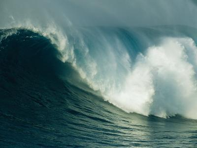 A Powerful Wave, or Jaws, off the North Shore of Maui Island-Patrick McFeeley-Photographic Print