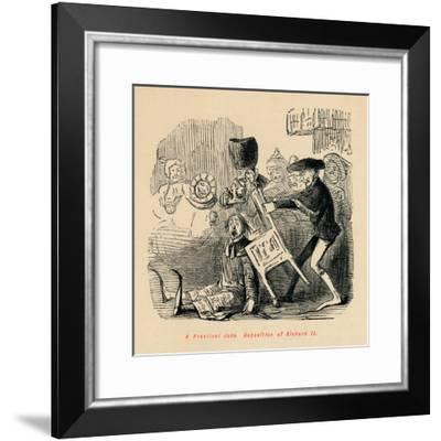 'A Practical Joke. Deposition of Richard II', c1860, (c1860)-John Leech-Framed Giclee Print
