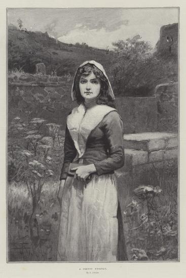 A Pretty Puritan--Giclee Print