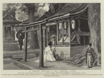 A Priest before a Fox Shrine, Japan-Charles Edwin Fripp-Giclee Print