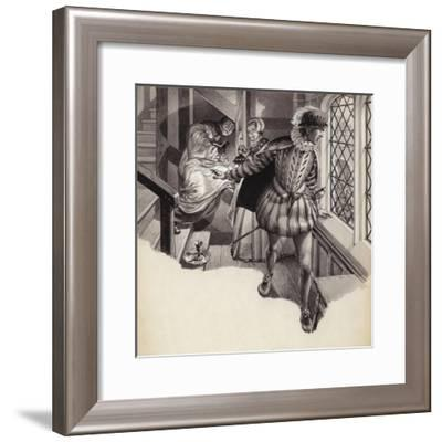 A Priest Slips into a Priesthole-Pat Nicolle-Framed Giclee Print
