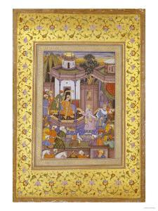 A Prince Giving Audience Mughal Late 16th Century