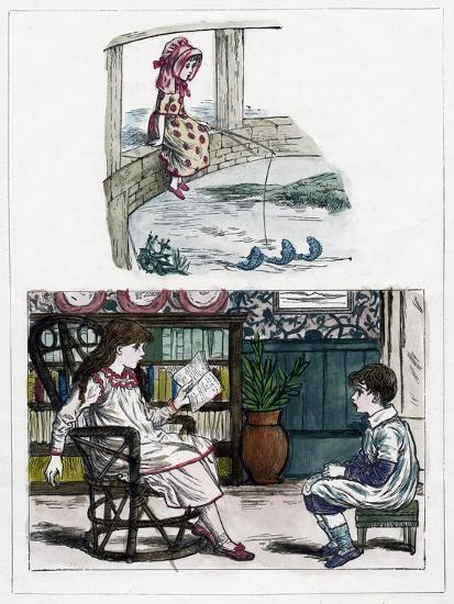 A Print from the Little Folk's Nature Painting Book by Kate Greenaway, C1880s--Giclee Print