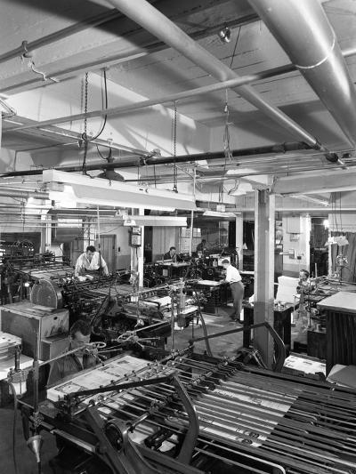 A Print Room in Operation, Mexborough, South Yorkshire, 1959-Michael Walters-Photographic Print