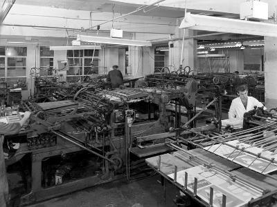 A Print Room, Mexborough, South Yorkshire, 1959-Michael Walters-Photographic Print