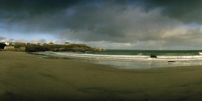 A Pristine Beach Near Port of Ness with a Rainbow in the Distance-Macduff Everton-Photographic Print