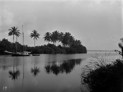 A Pristine View of the Mouth of the Miami River, 1884--Photographic Print