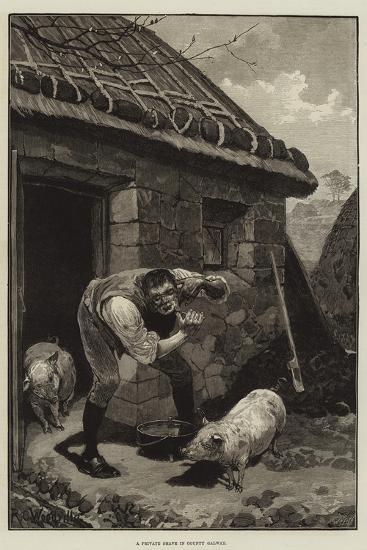 A Private Shave in County Galway-Richard Caton Woodville II-Giclee Print