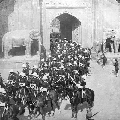 A Procession Passing Through the Delhi Gate, Lahore, Pakistan, 1913-HD Girdwood-Giclee Print