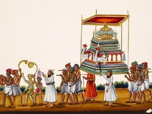 A Procession, Possibly for Muharram in South India, from Thanjavur, India