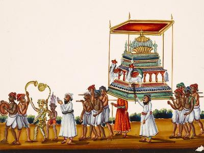 A Procession, Possibly for Muharram in South India, from Thanjavur, India--Giclee Print