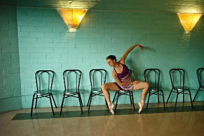 A Professional Dancer Warms Up For Her Daily Ballet Routine-Kike Calvo-Photographic Print