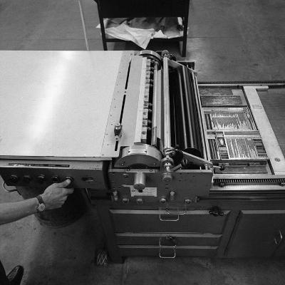 A Proofing Press with Plates at the White Rose Press, Mexborough, South Yorkshire, 1968-Michael Walters-Photographic Print