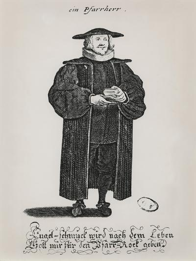 A Protestant Pastor at the End of the 17th Century--Giclee Print