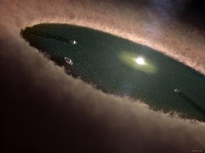 A Protoplanetary, or Planet-Forming, Disk Surrounding a Young Star-Stocktrek Images-Photographic Print