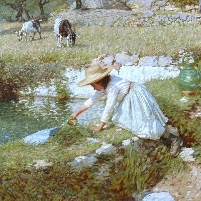 A Provencal Stream, C.1903-Henry Herbert La Thangue-Giclee Print