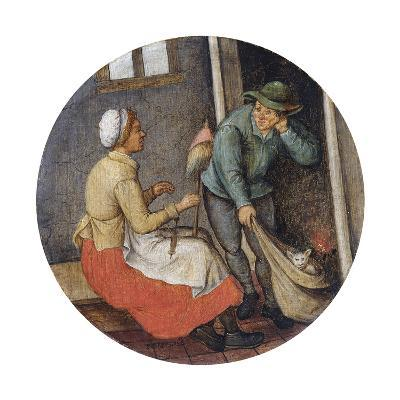 A Proverb - Letting the Cat Out of the Bag-Pieter Brueghel the Younger-Giclee Print