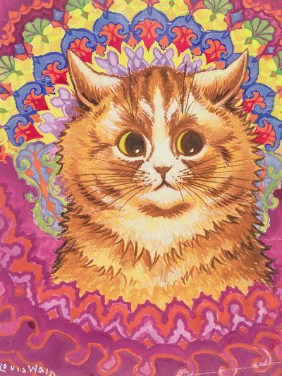 A Psychotic Cat-Louis Wain-Giclee Print