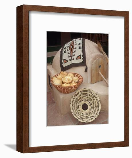 A Pueblo Bread Baking Oven Called an Horno-Yvette Cardozo-Framed Photographic Print