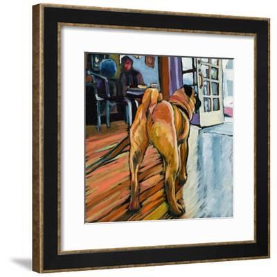 A Pug's View-Kathryn Wronski-Framed Art Print