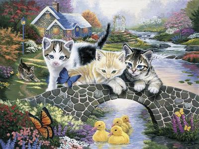 A Purrfect Day-Jenny Newland-Giclee Print
