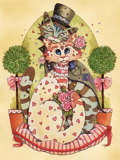 A Purrrrfect Match-Linda Ravenscroft-Giclee Print