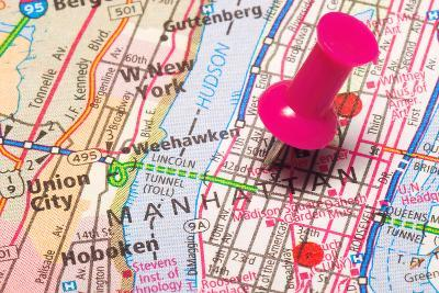 A Push Pin In New York- robeo-Art Print
