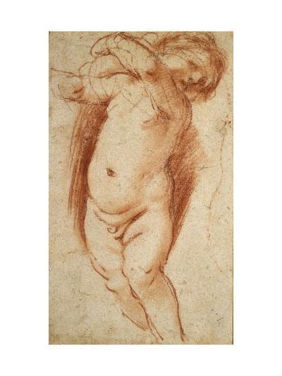 A Putto, 1620 - 1624-Guercino-Giclee Print