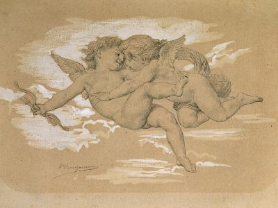 A Putto Trying to Steal Cupid's Arrows-William Adolphe Bouguereau-Giclee Print