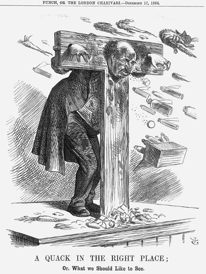 A Quack in the Right Place, 1864-John Tenniel-Giclee Print