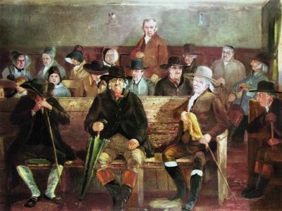 A Quaker Meeting, 1839--Giclee Print