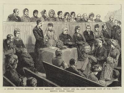 A Quaker Wedding--Giclee Print