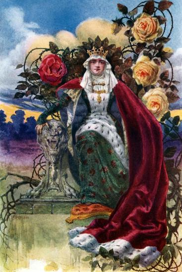 A Queen of Roses, 1908-1909-JH Valda-Giclee Print
