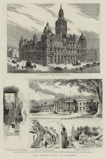 A Queen's Visit to Glasgow--Giclee Print