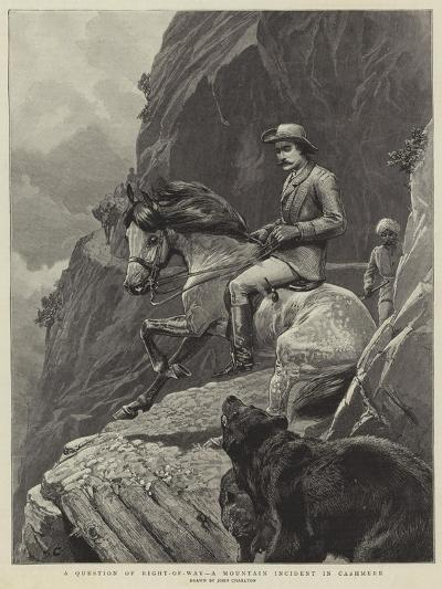 A Question of Right-Of-Way, a Mountain Incident in Cashmere-John Charlton-Giclee Print
