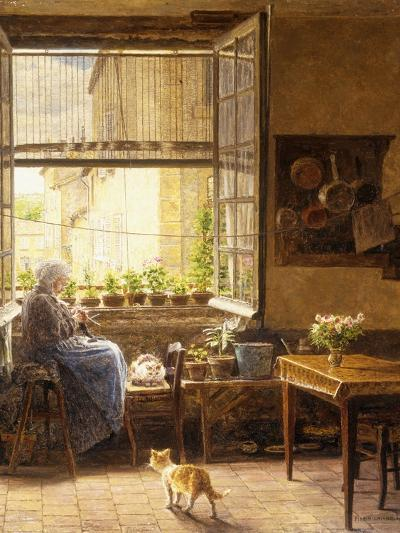 A Quiet Afternoon-Marie Francois Firmin-Girard-Giclee Print