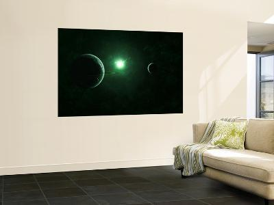 A Quiet and Unusual System That Emits an Impossible Green Light-Stocktrek Images-Wall Mural