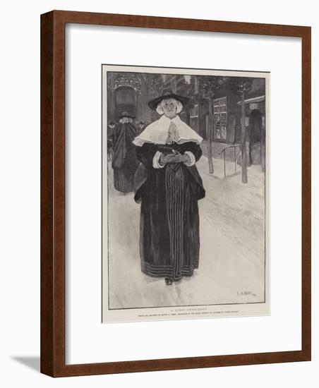 A Quiet Conscience-Edwin Austin Abbey-Framed Giclee Print