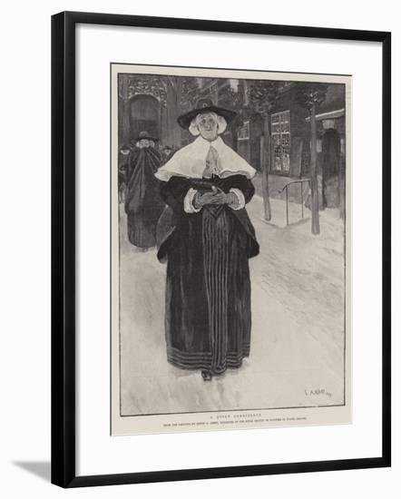 A Quiet Conscience-Edwin Austin Abbey-Framed Giclee Print