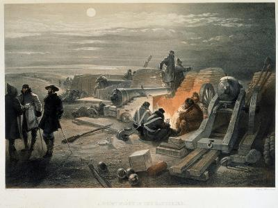 A Quiet Night in the Batteries, 1855-William Simpson-Giclee Print