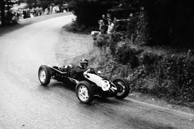 A Racing Driver Speeding Round a Bend, Harleyford Hill Climb, Buckinghamshire, (C1950-C1960)--Photographic Print