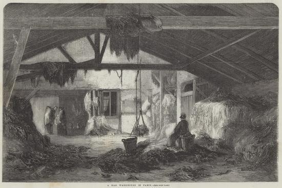 A Rag Warehouse in Paris--Giclee Print