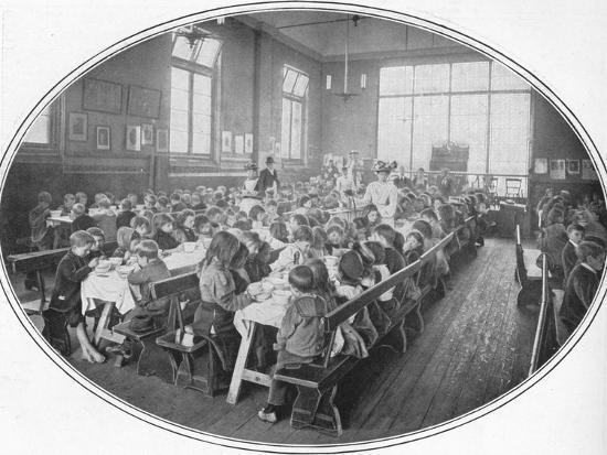 A Ragged School Union dinner, Camberwell, London, c1901 (1901)-Unknown-Photographic Print