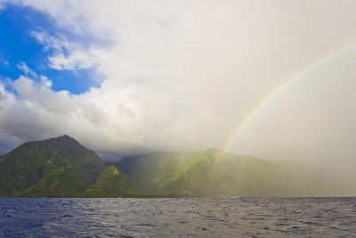 A Rainbow after a Brief Rain Shower on the Island of Tahiti-Mike Theiss-Photographic Print